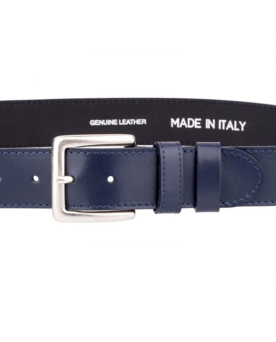 Navy-nappa-classic-belt-buckle-On-pants
