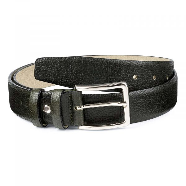 Olive-Green-Leather-Belt-by-Capo-Pelle-Main-picture