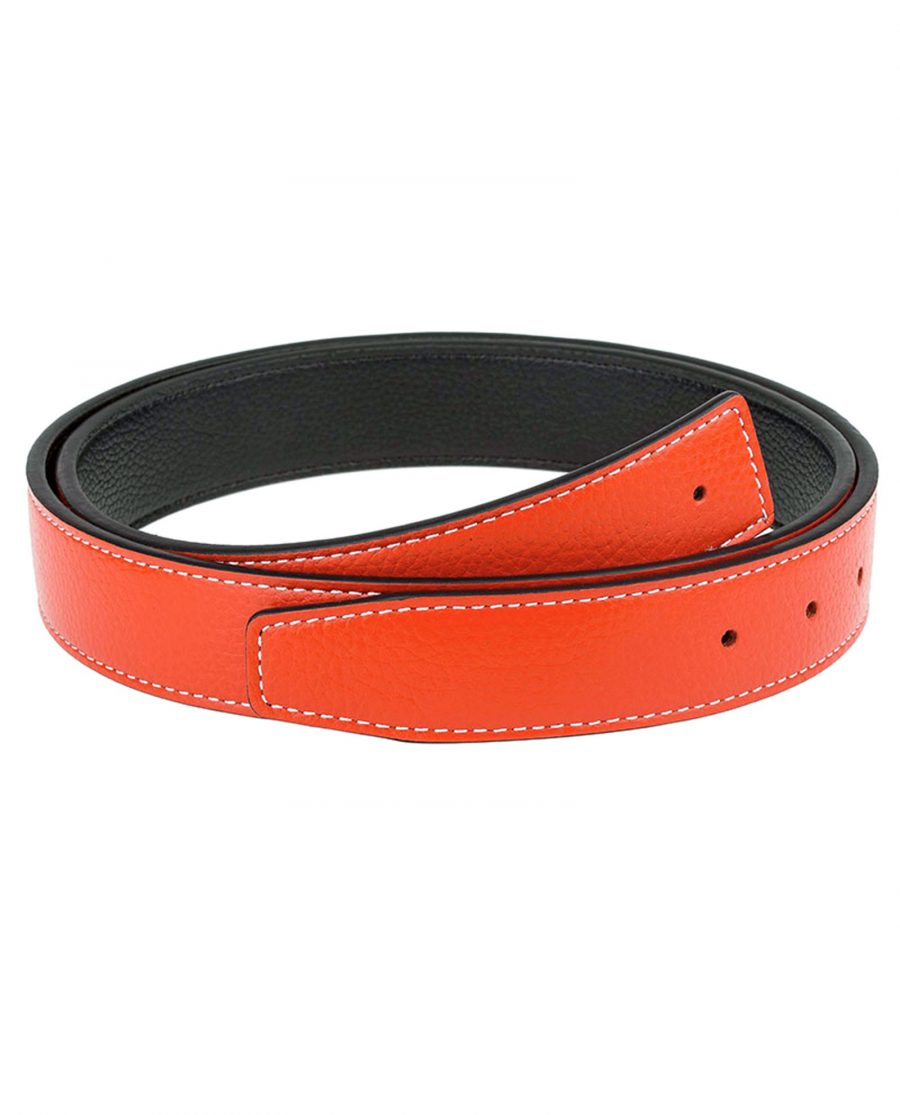 Orange-h-belt-strap-narrow