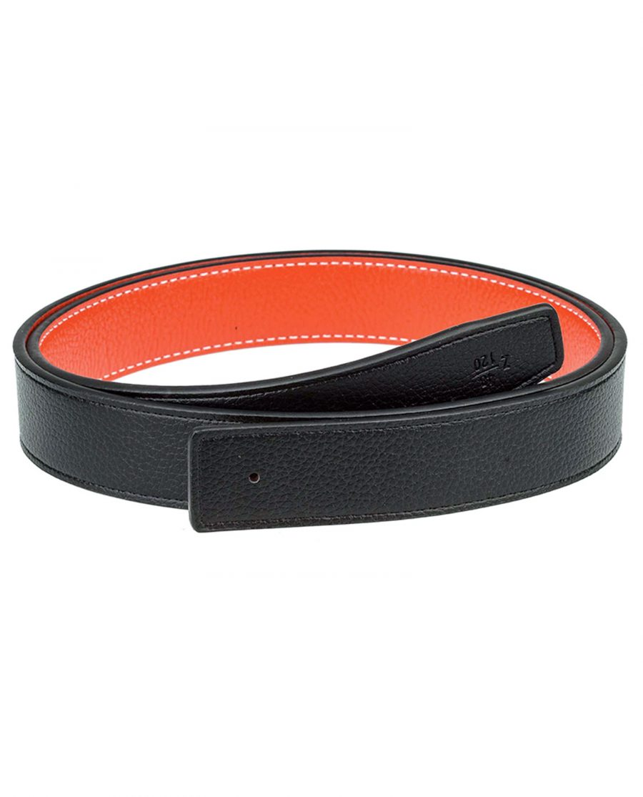 Orange-h-belt-strap-narrow-reversible