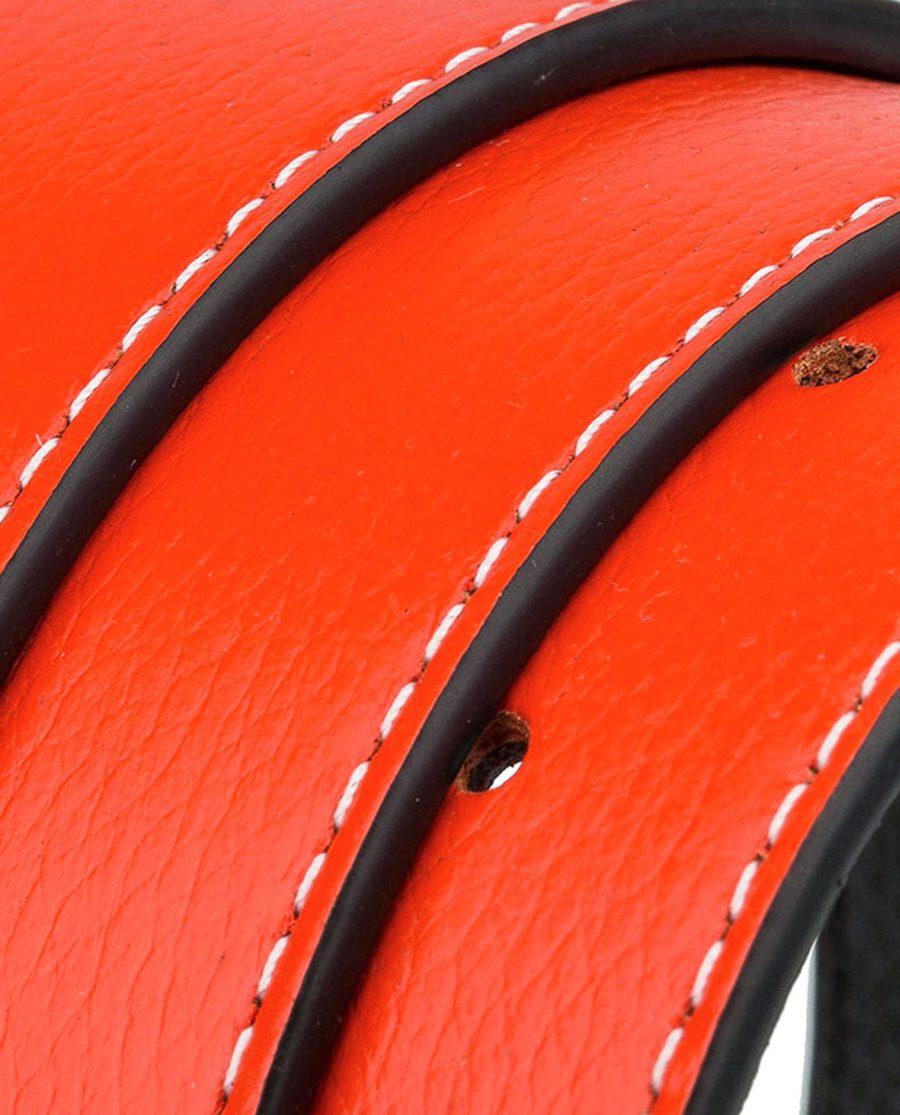 Orange-h-belt-strap-wide-rolled