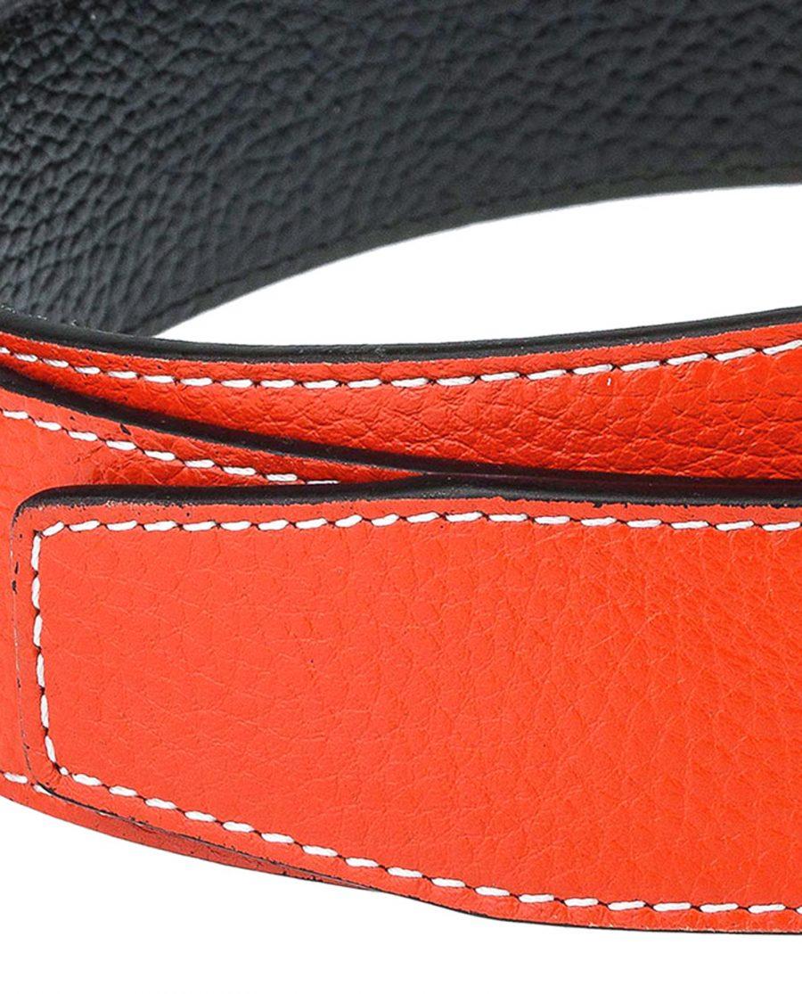 Orange-h-belt-strap-wide-thread