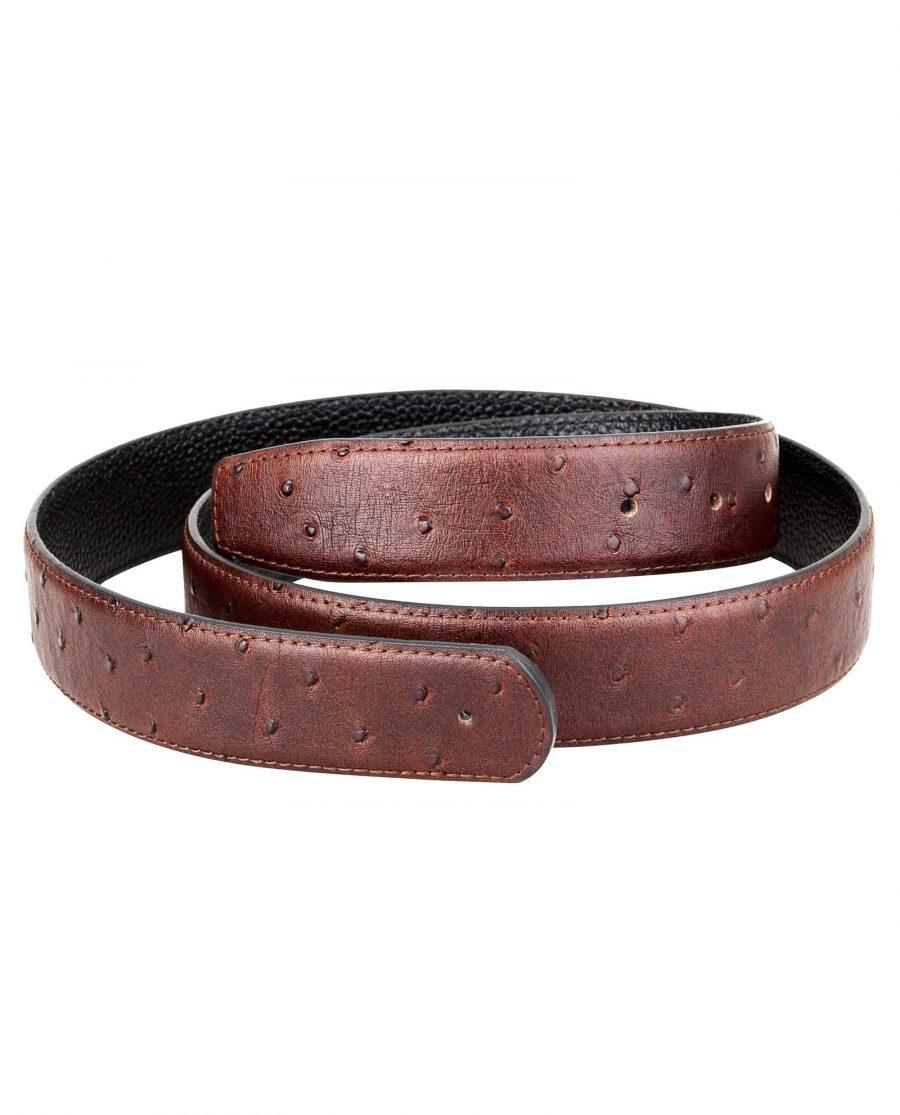 Ostrich-belt-strap-brown