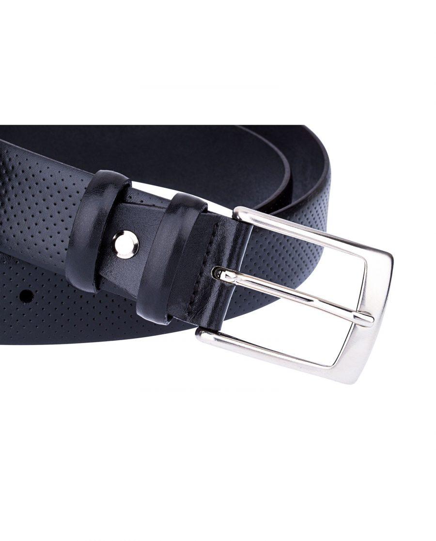 Perforated-Black-Golf-Belt-Buckle-close-image