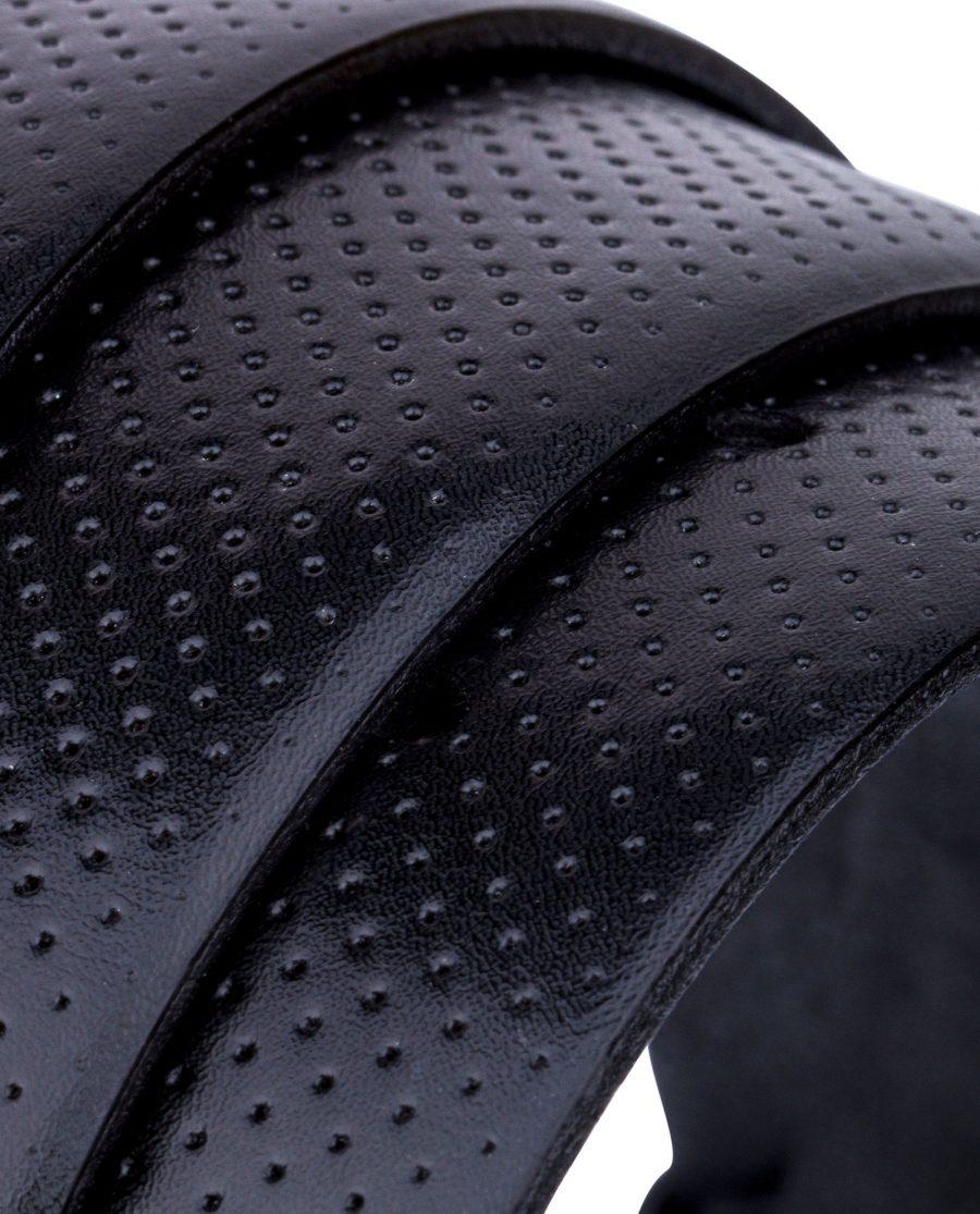 Perforated-Black-Golf-Belt-Rolled-strap
