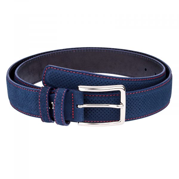 Perforated-Blue-Suede-Belt-Main-picture