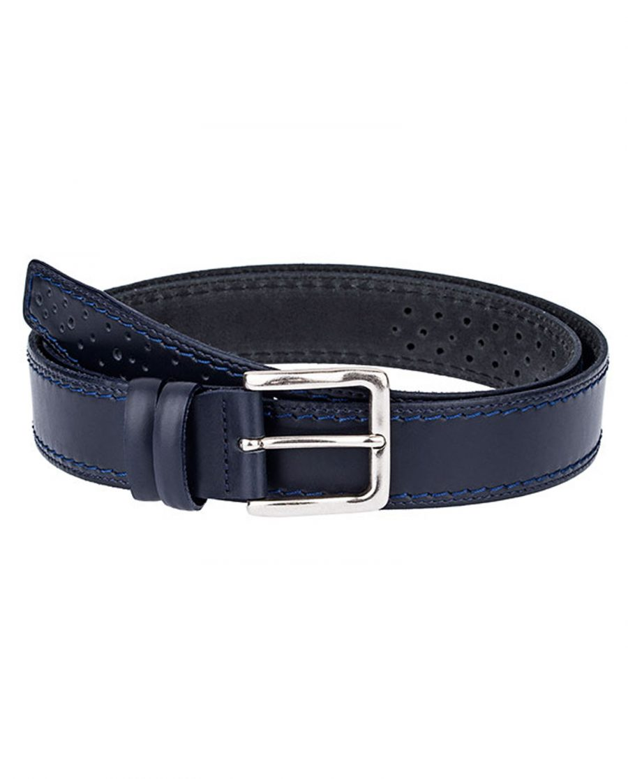 Perforated-Italian-Leather-Belt-Front