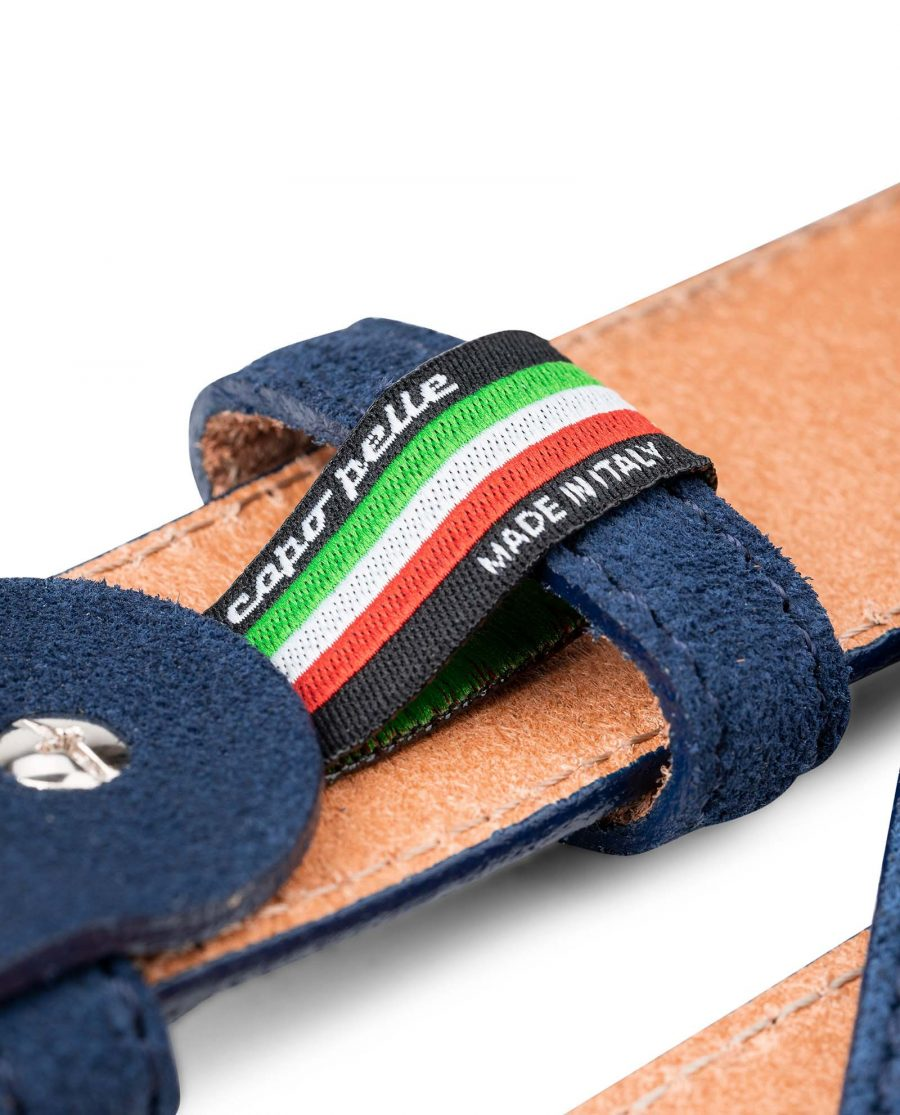 Perforated-Suede-Belt-in-Navy-Blue-Mens-Golf-by-Capo-Pelle-Made-in-Italy