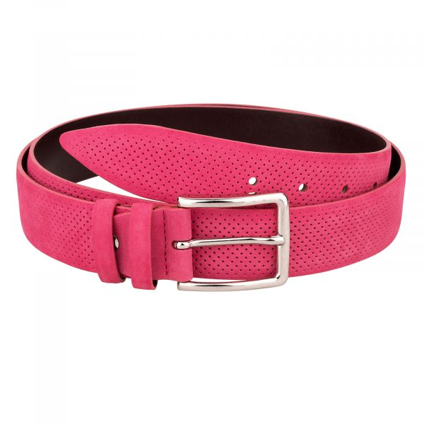 Pink-Belt-Nubuck-Leather-First-picture