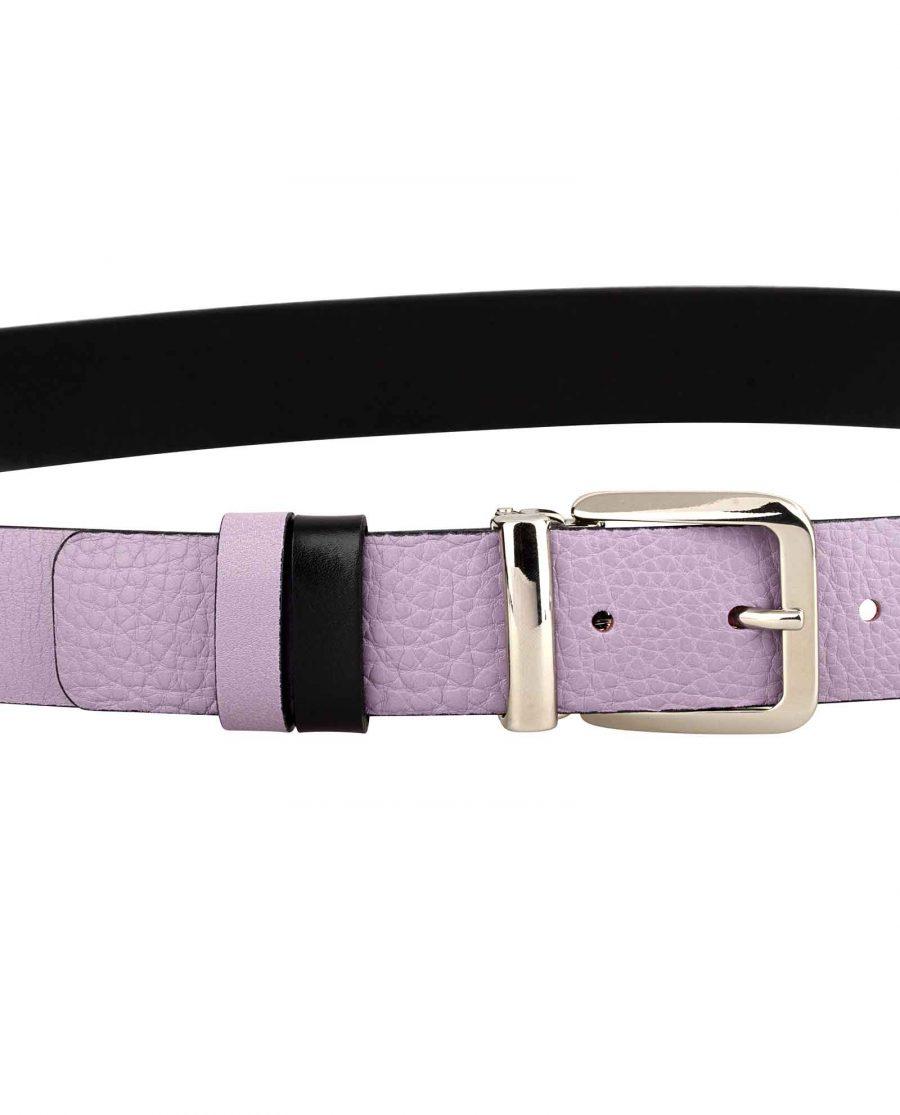 Purple-Designer-Belt-Italian-Buckle-On-pants