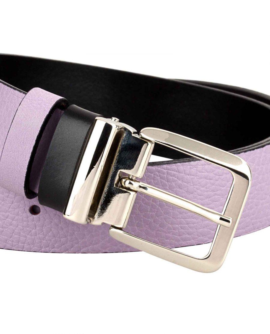 Purple-Designer-Belt-Italian-Buckle-Zoom-image