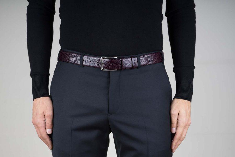 Purple-Leather-Belt-for-Men-35-mm-Live-on-Pants