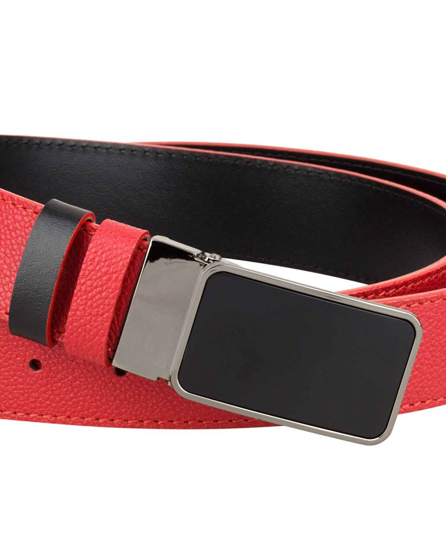 Red-Belt-for-Men-Close-picture