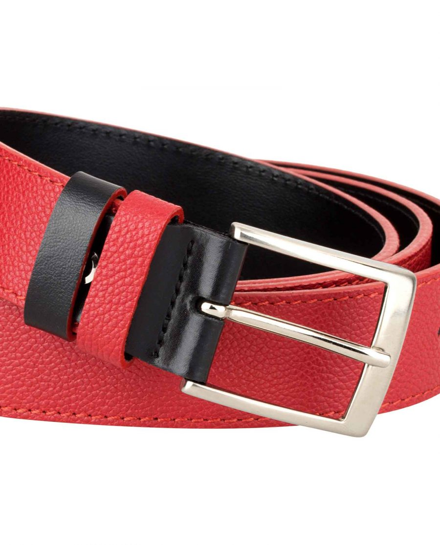 Red-Black-Reversible-Belt-Buckle-picture