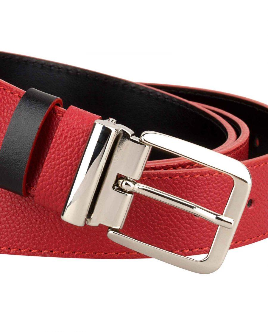 Red-Leather-Belt-Italian-Buckle-Close-image