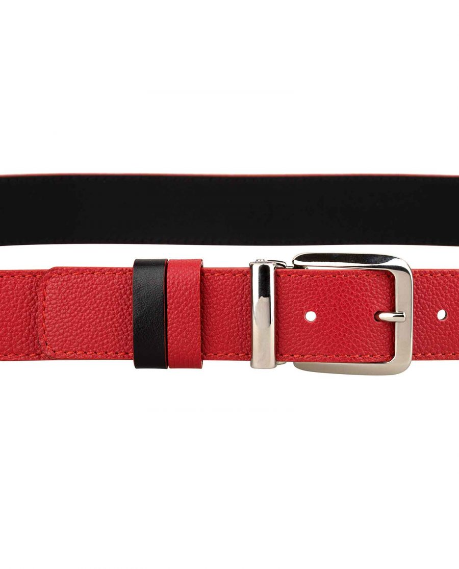 Red-Leather-Belt-Italian-Buckle-On-pants