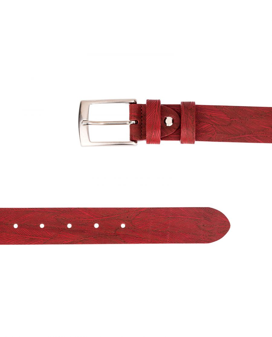 Red-Leather-Belt-Laser-Feather-Both-ends