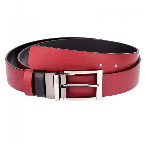 Red-Leather-Belt-Reversible-Front-picture