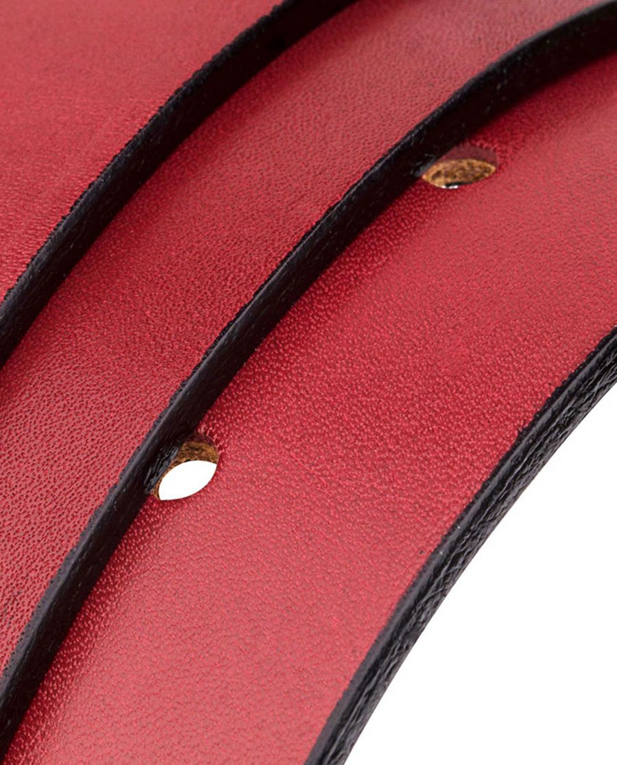 Red-Leather-Belt-Reversible-Rolled-strap