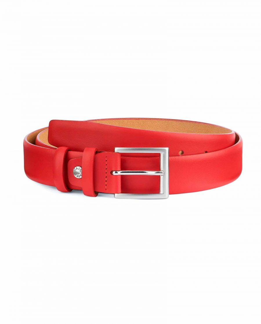 Red-Leather-Belt-Vegetable-Tanned-Capo-Pelle