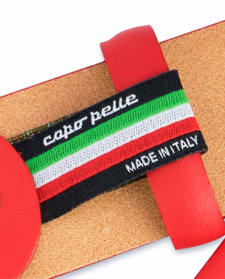 Red-Leather-Belt-Vegetable-Tanned-Label