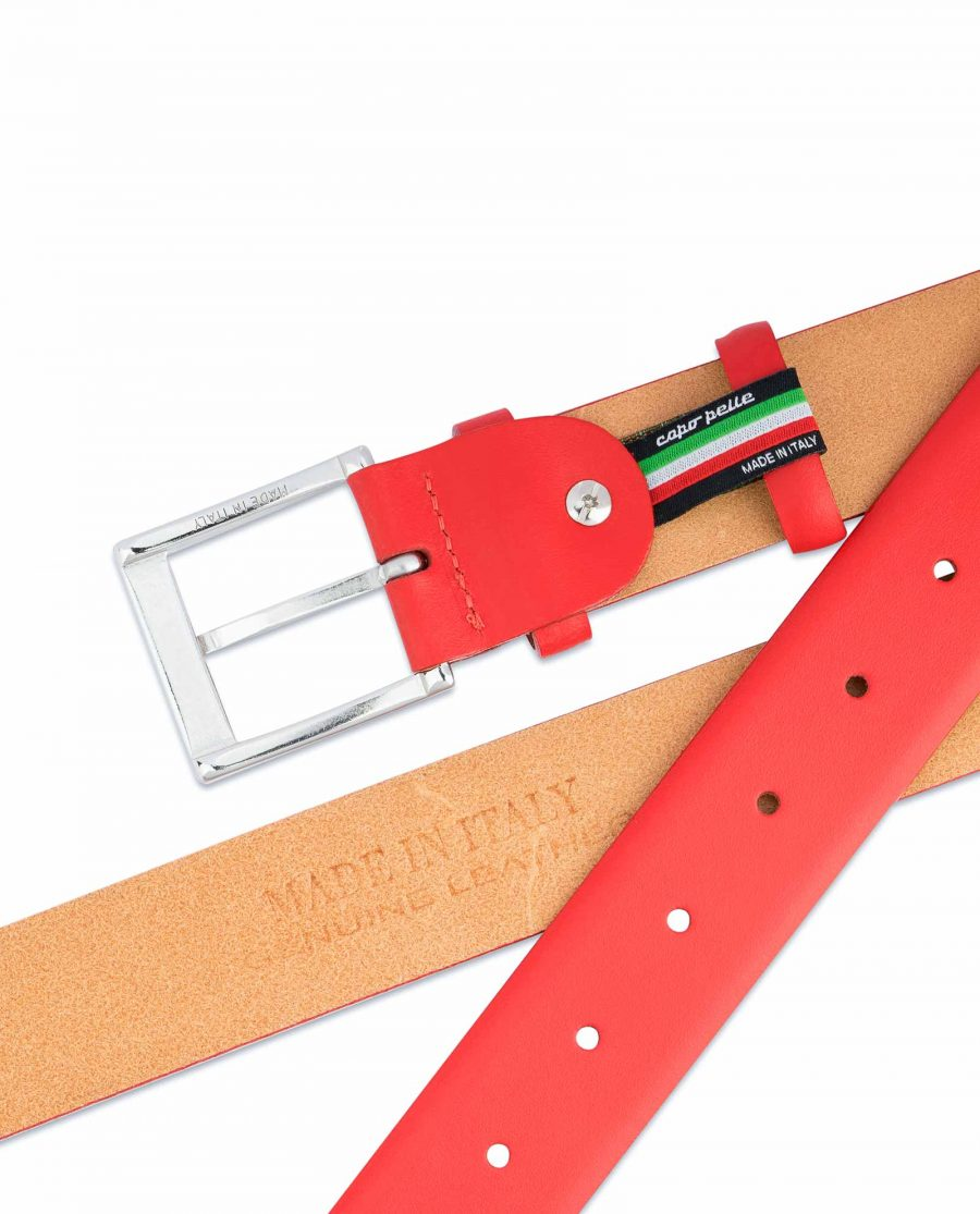 Red-Leather-Belt-Vegetable-Tanned-Mens