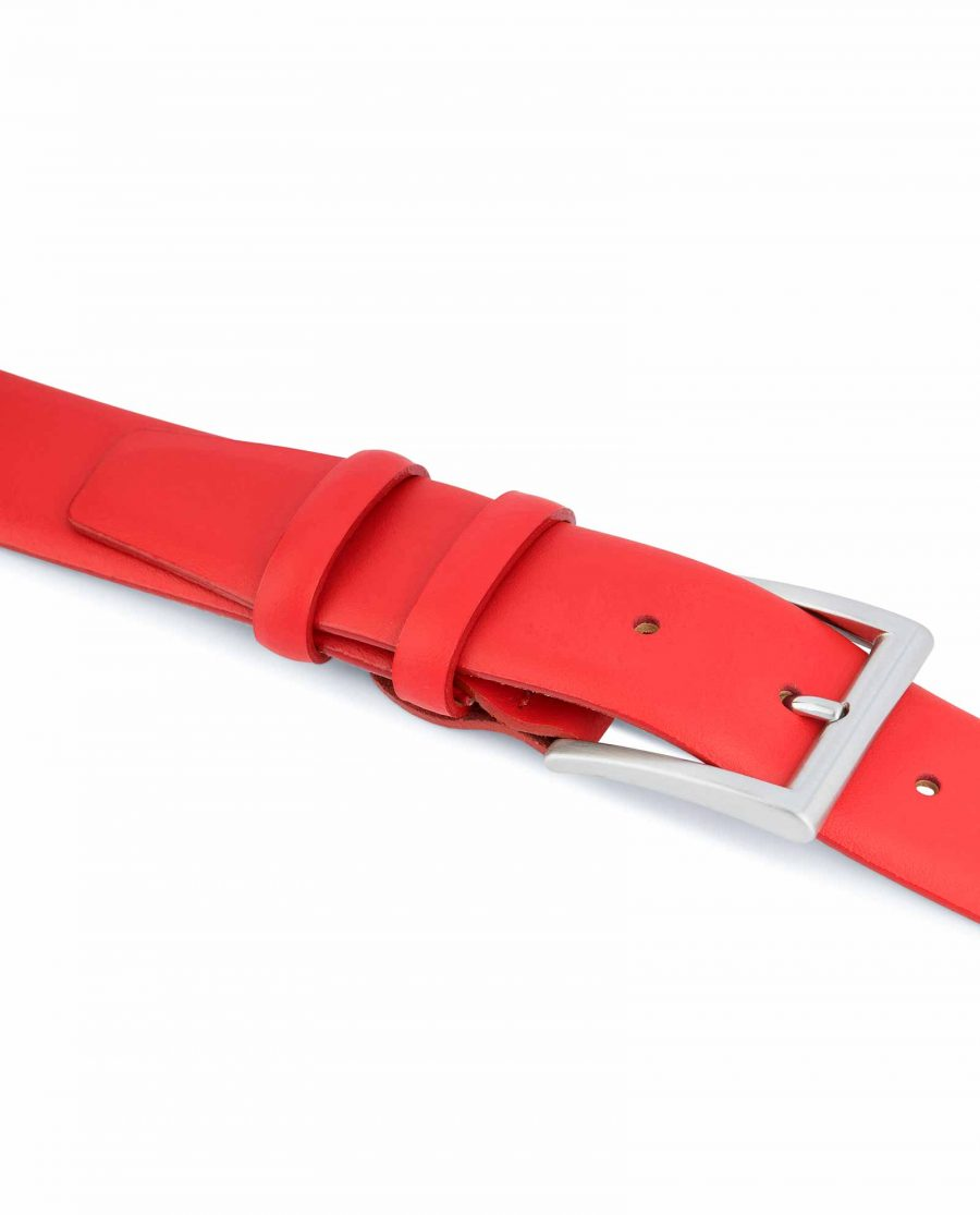 Red-Leather-Belt-Vegetable-Tanned-Smooth