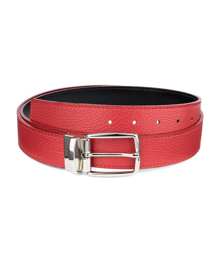 Red-Reversible-Belt-with-Twist-Buckle-Capo-Pelle-Main-image