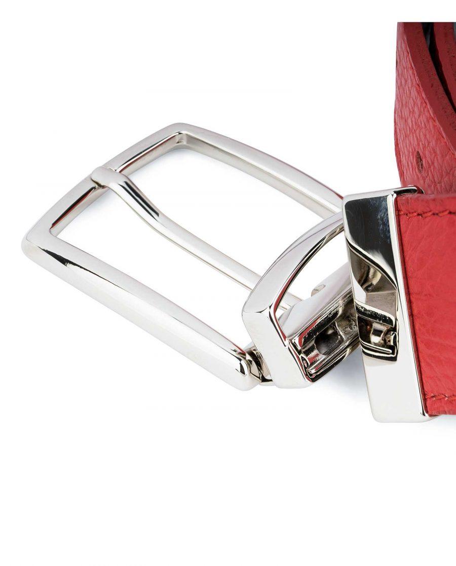 Red-Reversible-Belt-with-Twist-Buckle-Mechanism