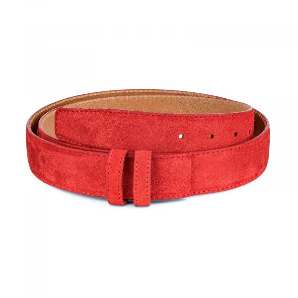 Red-Suede-Belt-Strap-1-3-8-inch-wide-35-mm-Main-image
