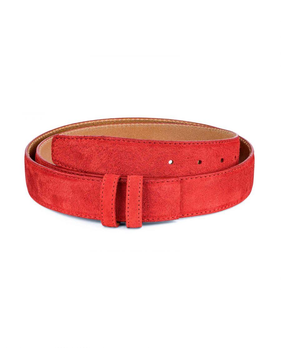 Red-Suede-Belt-Strap-1-3-8-inch-wide-35-mm-Main-image