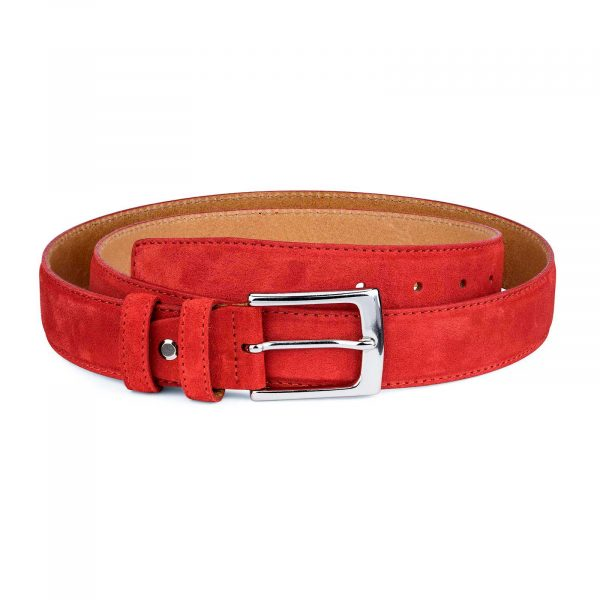 Red-Suede-Belt-by-Capo-Pelle-Main-picture