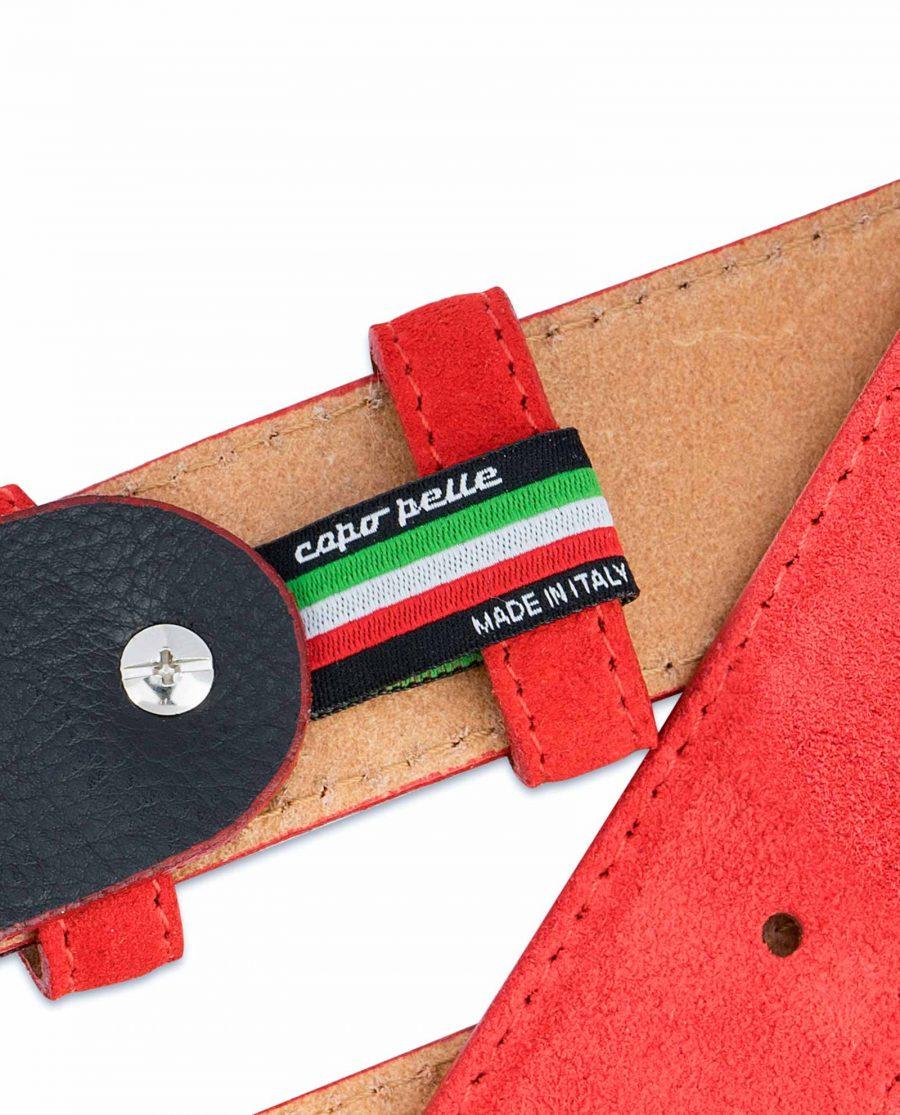 Red-Western-Belt-Italian-Suede-Leather-Loop-holder