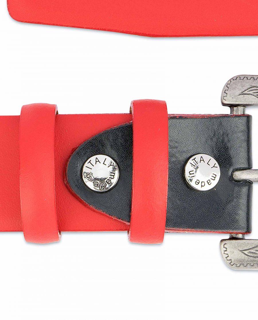 Red-Western-Belt-Mens-Veg-Tan-Leather-Belt-screws