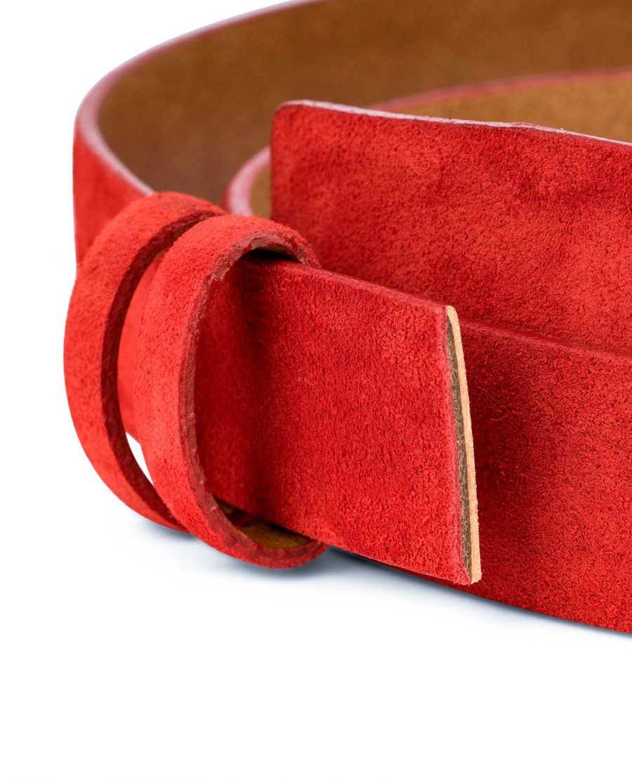 Replacement-Red-Suede-Leather-Belt-1-1-8-inch-Close-image