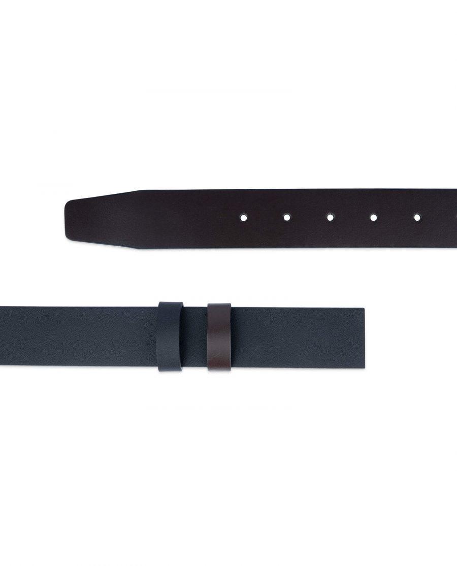 Replacement Reversible Belt Strap Black Brown 2