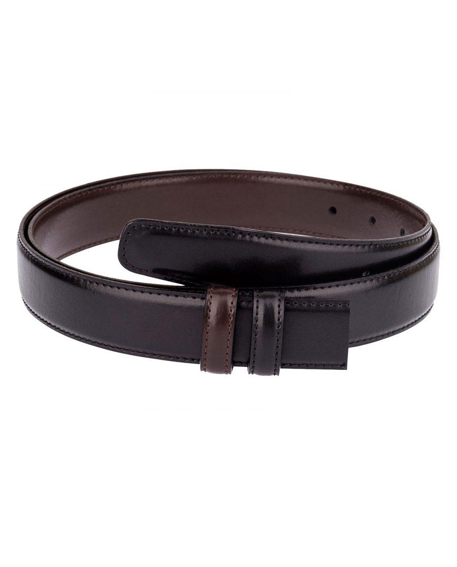 Reversible-Belt-Strap-Black-Brown-Front-picture