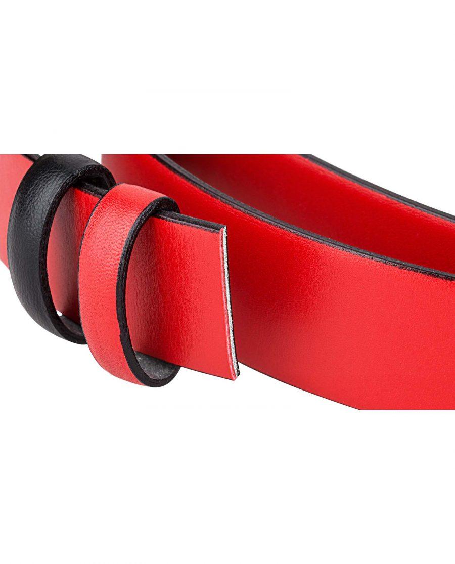 Reversible-Belt-Strap-Red-Black-Buckle-attachment