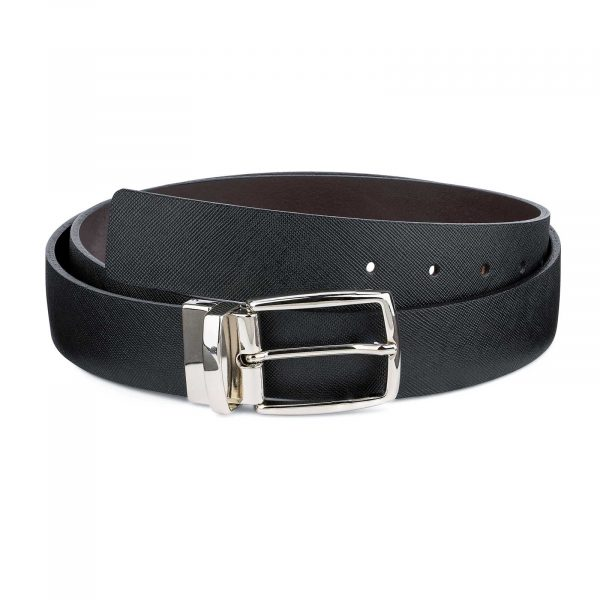 Reversible-Black-Brown-Saffiano-Leather-Belt-First-picture