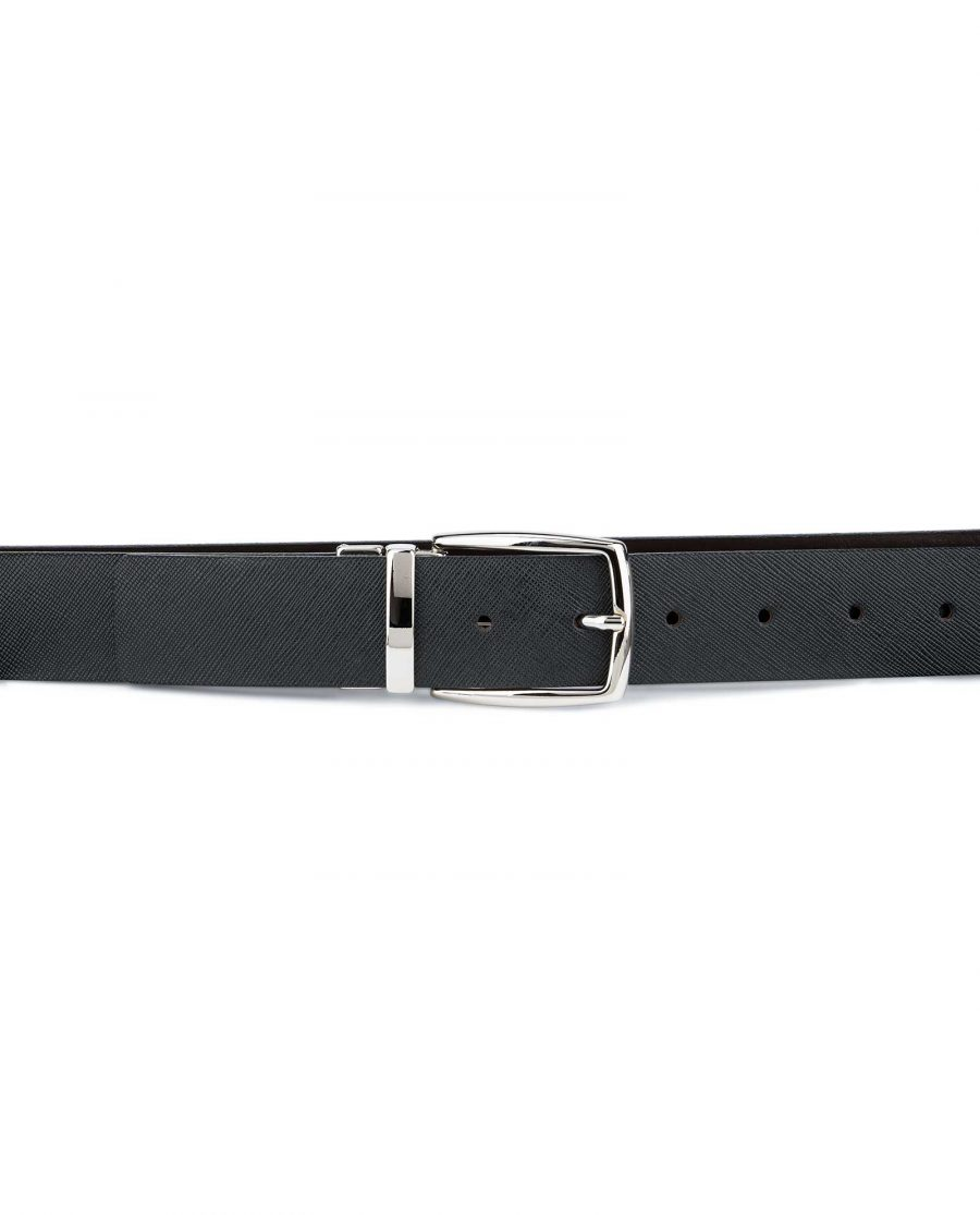 Reversible-Black-Brown-Saffiano-Leather-Belt-On-trousers