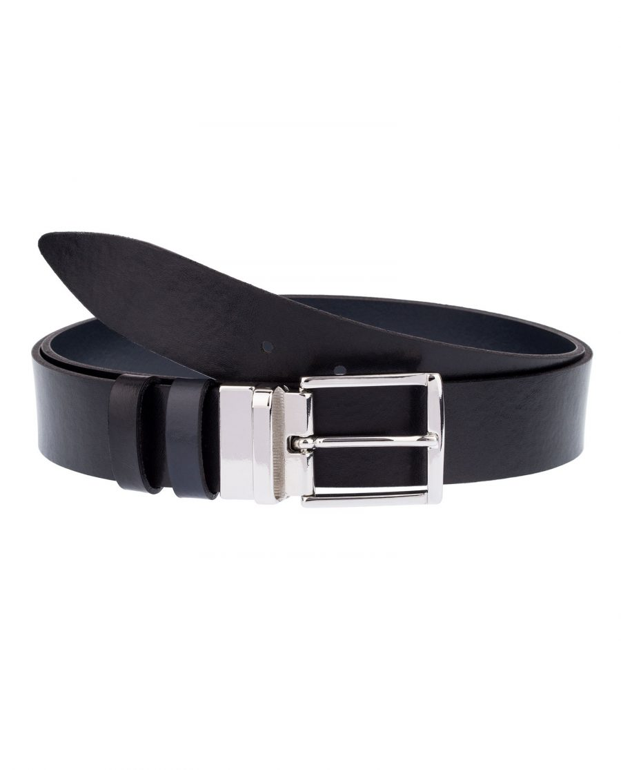 Reversible-Blue-Black-Leather-Belt-Front