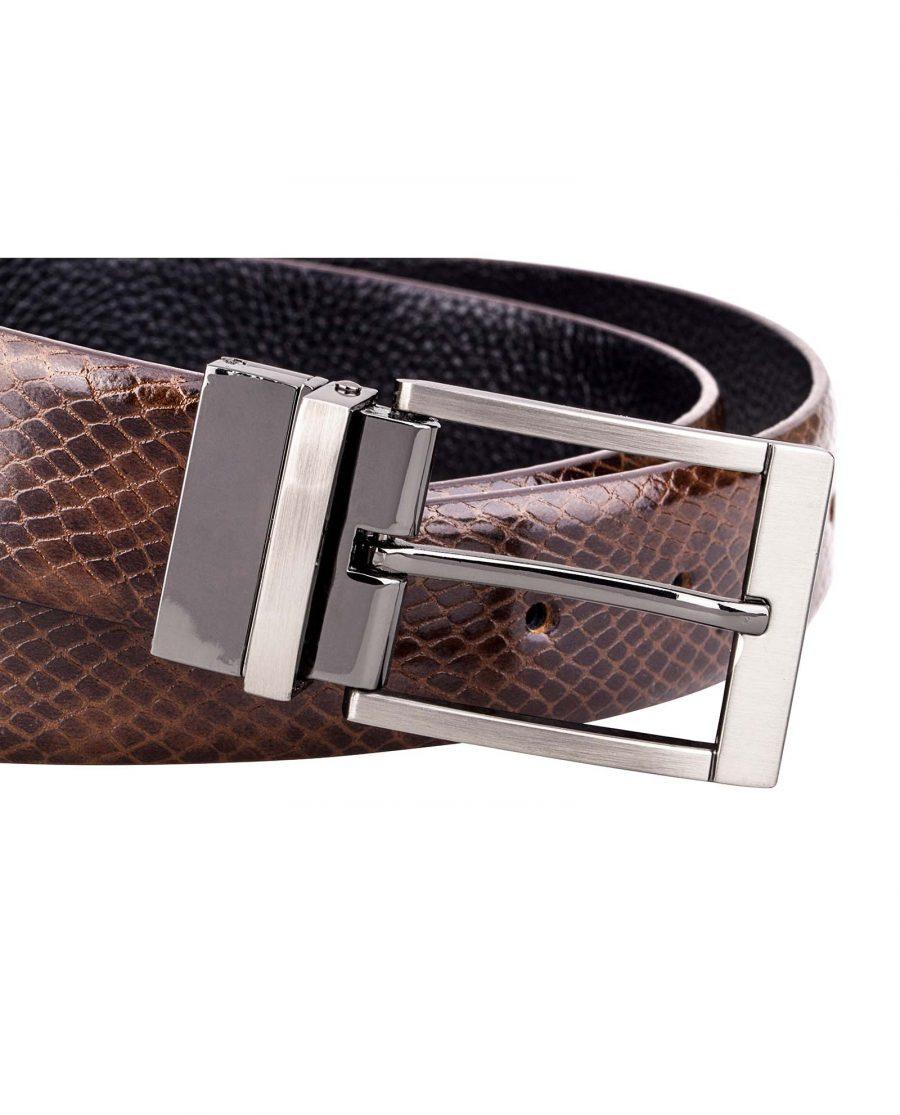 Reversible-Brown-Snake-Belt-Buckle-picture