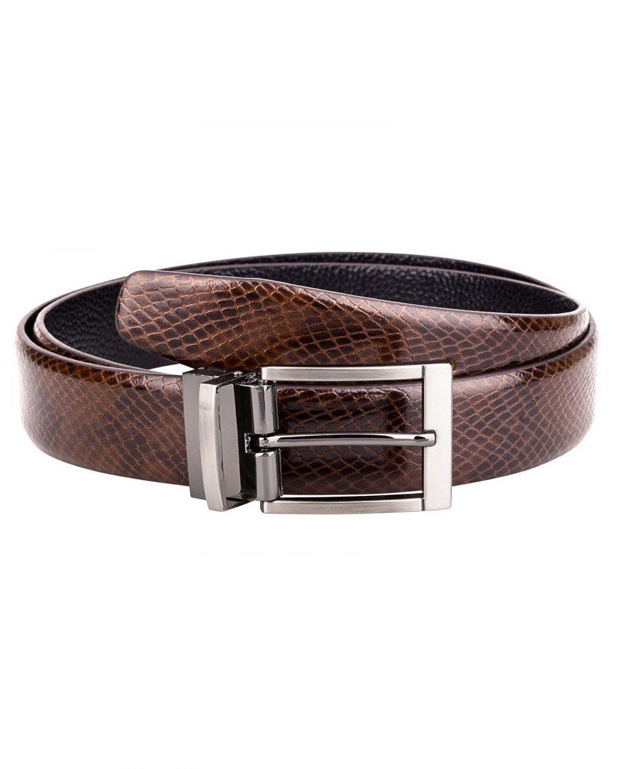 Reversible-Brown-Snake-Belt-Main-image