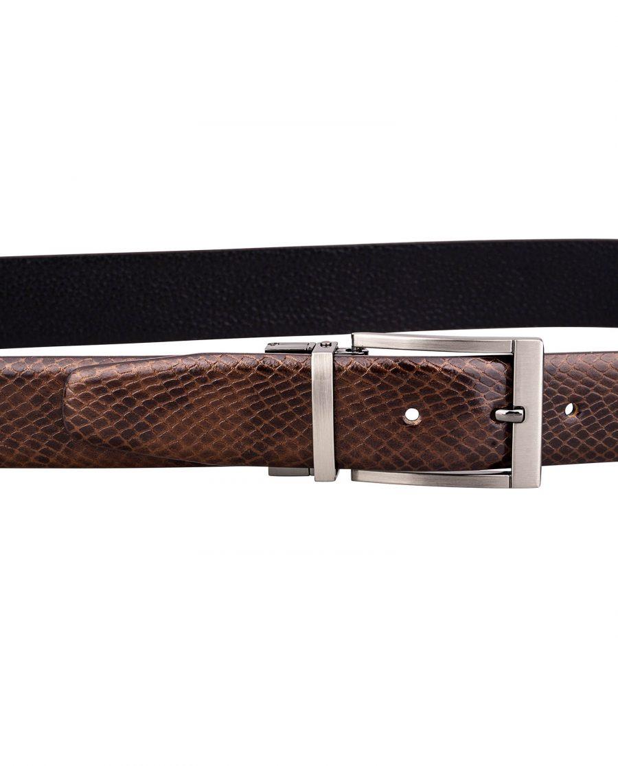 Reversible-Brown-Snake-Belt-On-pants