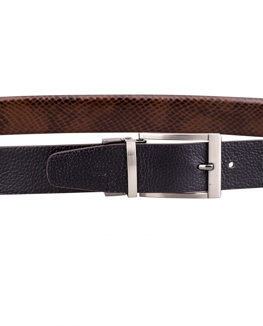 Reversible-Brown-Snake-Belt-On-trousers