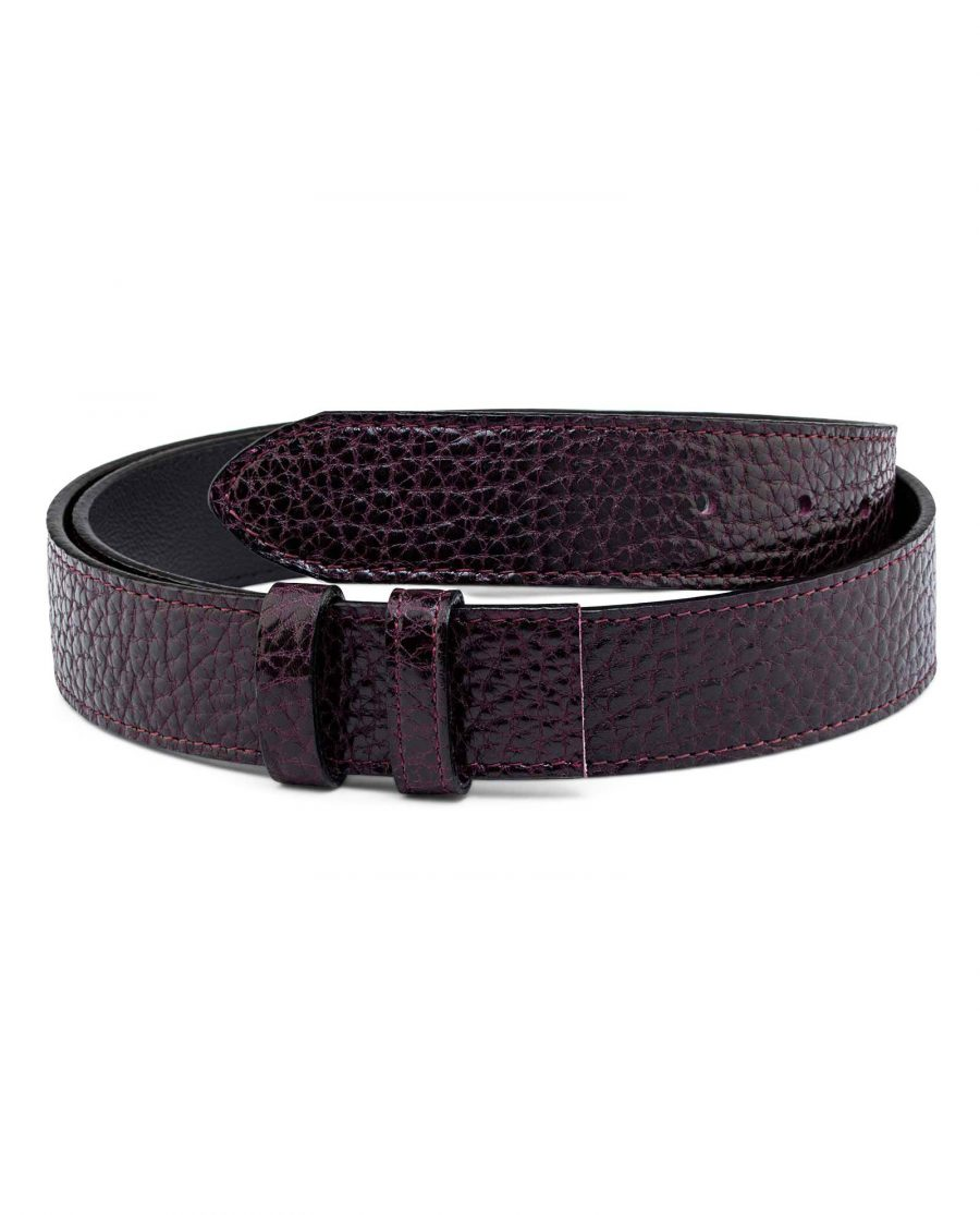 Reversible-Burgundy-Belt-Strap-35-mm-Main-picture