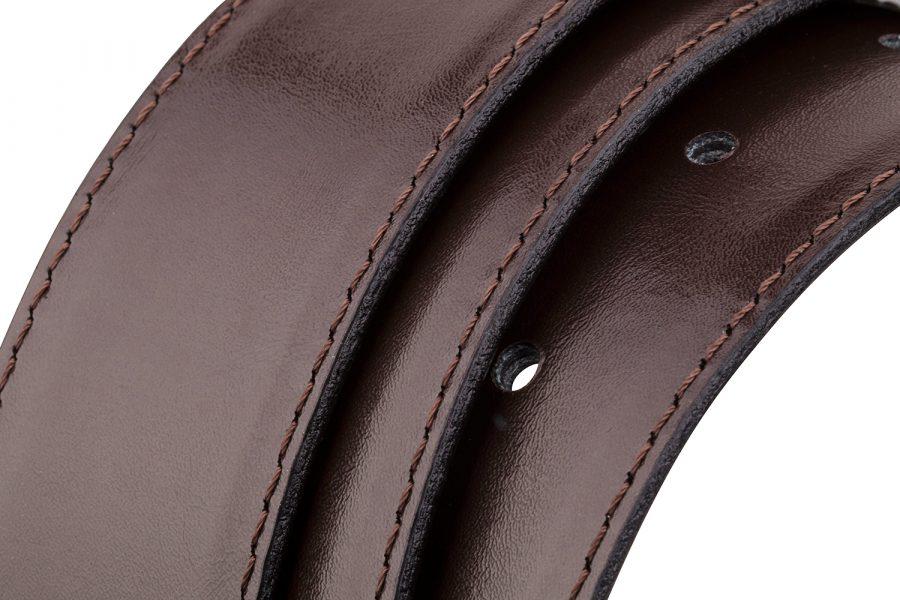 Reversible-Leather-Belt-Strap-Rolled