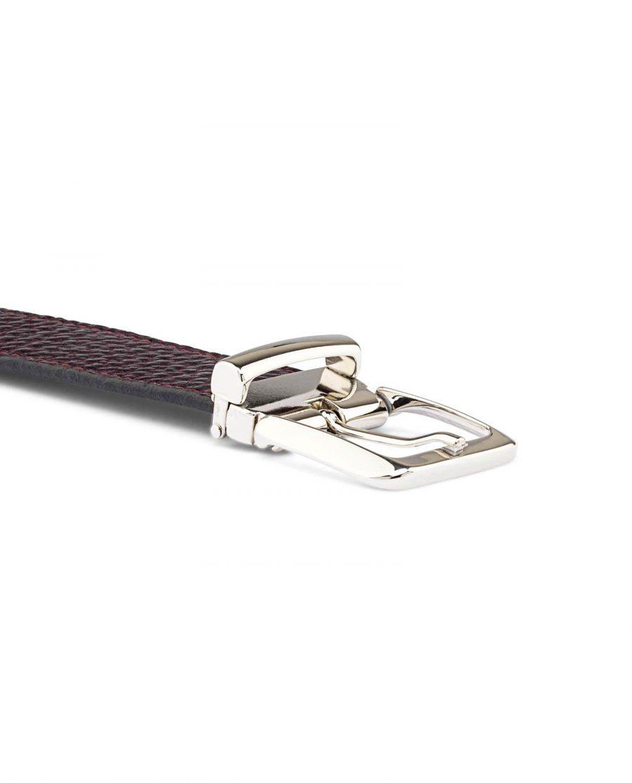 Reversible-Maroon-Leather-Belt-Buckle-image