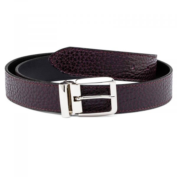 Reversible-Maroon-Leather-Belt-Italian-buckle