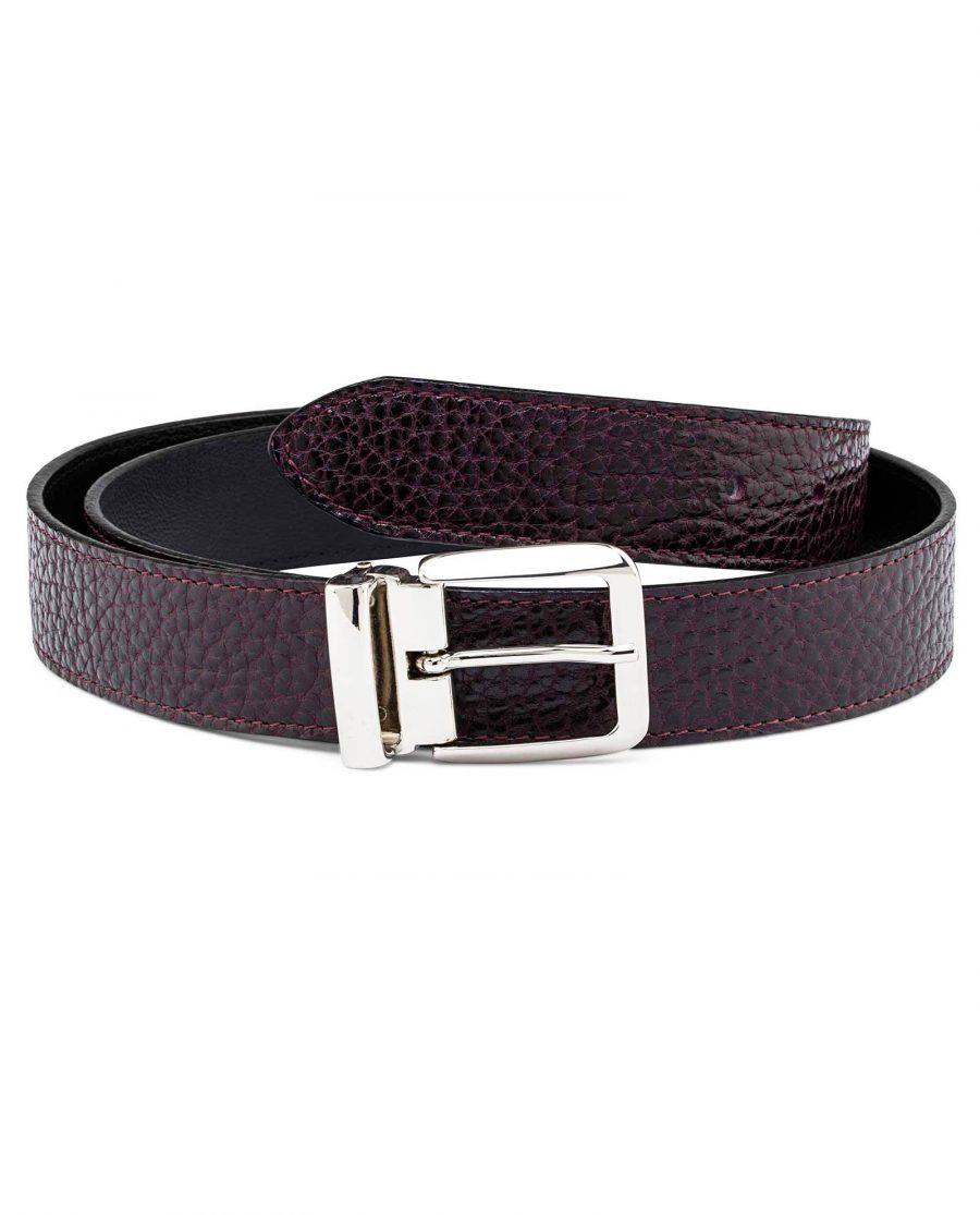 Reversible-Maroon-Leather-Belt-Italian-buckle